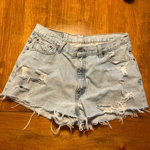 Vintage Levi's   Distressed Cutoff Shorts